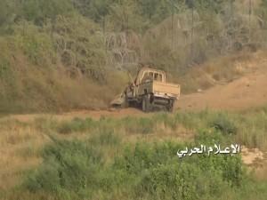 تدمير اليات عسكرية سعودية في عسي