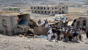 استشهاد امرأة وإصابة طفلين بقصف طيران العدوان على مديرية سنحان بصنعاء