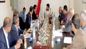 رئيس اللجنة الثورية يلتقي قيادة وزارة الأشغال وصندوق صيانة الطرق