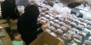 الهيئة النسائية بـ حجة يقدمن قافلة كبيرة من الغذاء والذهب دعما لرجال الوطن في جبهات القتال