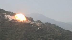 طيران العدوان السعودي الامريكي يستهدف مدارس وقرى صعدة بالقنابل المحرمة دوليا