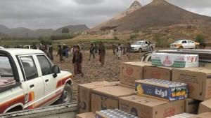 بالصورة..  قبائل جحانة خولان محافظة صنعاء يسيرون قافلة الصمود الغذائية دعما للجيش واللجان الشعبية