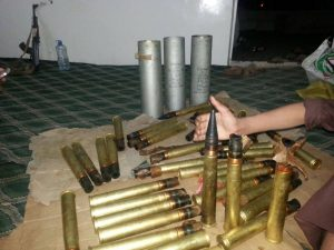 شحنة الاسلحة التي قبض عليها0