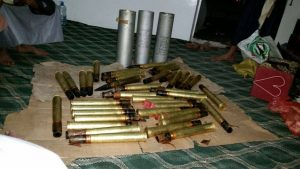 شحنة الاسلحة التي قبض عليها1