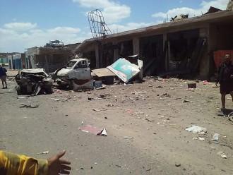 صور.. 4 شهداء وعدد من الجرحى في استهداف مصنع عقلان بذهبان شمال العاصمة صنعاء