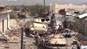 الإعلام-الحربي-يوزع-مشاهد-لتدمير-19-آلية-ومدرعة-ودبابة-في-جيزان-768x432