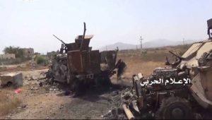 الإعلام-الحربي-يوزع-مشاهد-لتدمير-19-آلية-ومدرعة-ودبابة-في-جيزان7-768x434