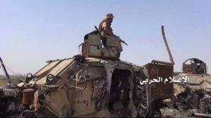 الإعلام-الحربي-يوزع-مشاهد-لتدمير-19-آلية-ومدرعة-ودبابة-في-جيزان9-768x430