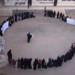 بالصور… وقفة وقافلة دعماً للجيش واللجان الشعبية من حرائر بني مطر