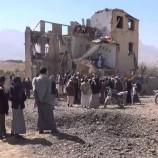 بالصور.. استهداف منزل اسرة رسام في منطقة سعوان بمديرية بني حشيش