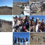 """بالصور.. ابناء سنحان يقدمون قافلة بعنوان """"الرسول الاعظم"""" دعما لابطال الجيش واللجان الشعبية في جبهات القتال"""