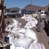 شاهد… قوافل غذائية من قبائل بني حشيش وبني بهلول وخولان بمحافظة صنعاء دعما للجيش واللجان
