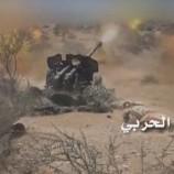 الجيش واللجان يقصفون تجمعات وتحصينات مرتزقة الجيش السعودي شمال صحراء ميدي
