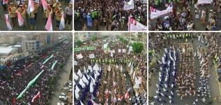 """العاصمة صنعاء تحيي يوم القدس العالمي في أكبر حشد على مستوى العالم العربي """"صور"""""""