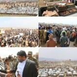 توافد كبير وغير مسبوق إلى ساحات الاعتصام في محيط العاصمة صنعاء… شاهد الصور