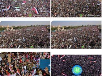 شاهد… أكبر حشدٌ يعرفة السبعين بصنعاء وتجمع مليوني وأكبر قافلة في تاريخ اليمن