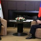 الرئيس السوري يعقد لقاء قمة مع الرئيس الروسي فلاديمير بوتين في مدينة سوتشي الروسية
