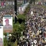 العاصمة #صنعاء تشهد #مسيرة_جماهيرية كبرى للتنديد بحصار #العدوان وإغلاقه كافة المنافذ اليمنية