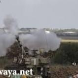 العدو الصهيوني يستهدف نقطة رصد للمقاومة الفلسطينية وسط غزة.