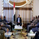الرئيس صالح الصماد يلتقي القائم بأعمال رئيس مجلس الشورى بحضور عدد من اعضاء المجلس